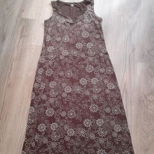 Brown and White Long Nightgown Women's 12-14